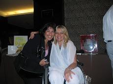 Con Elba Torrado, en el Hotel Savoy