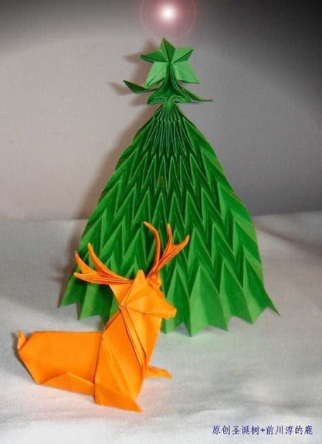 Papiroflexia para tod s reno y arbol de navidad cinta y - Cinta arbol navidad ...