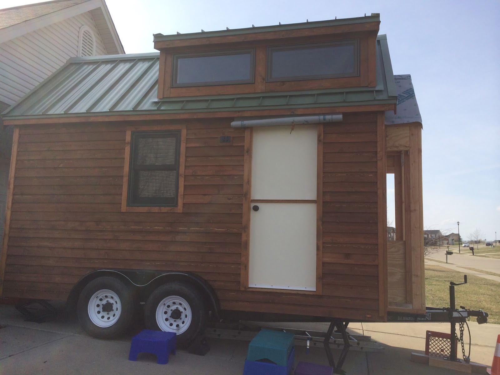 Lh growing a tiny house on wheels the shed that kyle built for Shed roof tiny house