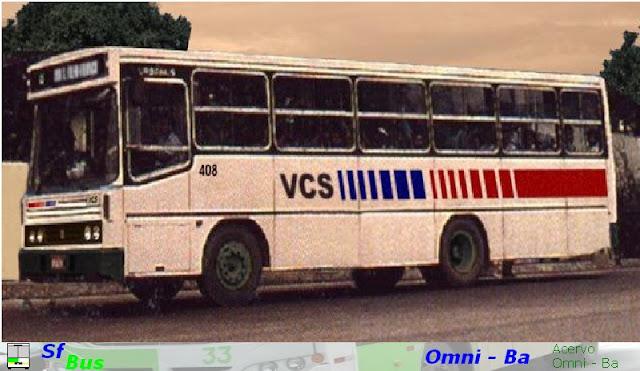 Empresa= VCS; carro= 408. Carroceria: Nielson Urbanus 1989, Chassi: Mercedes OF-1115