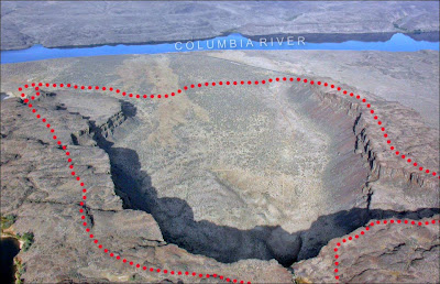 Echo Basin are Frenchman Coulee Ice Age Floods aerial.