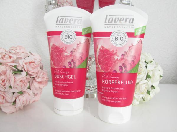 Lavera Pink Energy Körperfluid & Duschgel Review, Testbericht, Erfahrungen