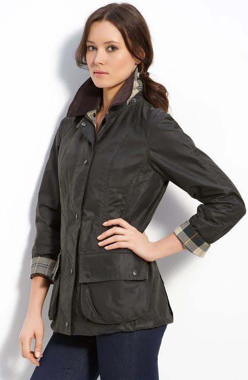 Black wax jacket womens