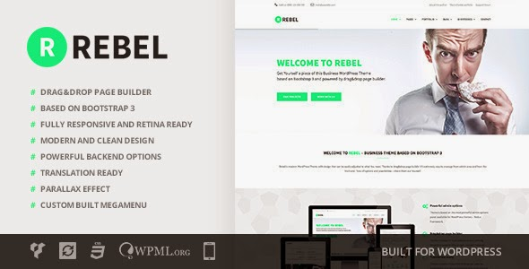 Rebel v1.3 - WordPress Business Bootstrap Theme Free