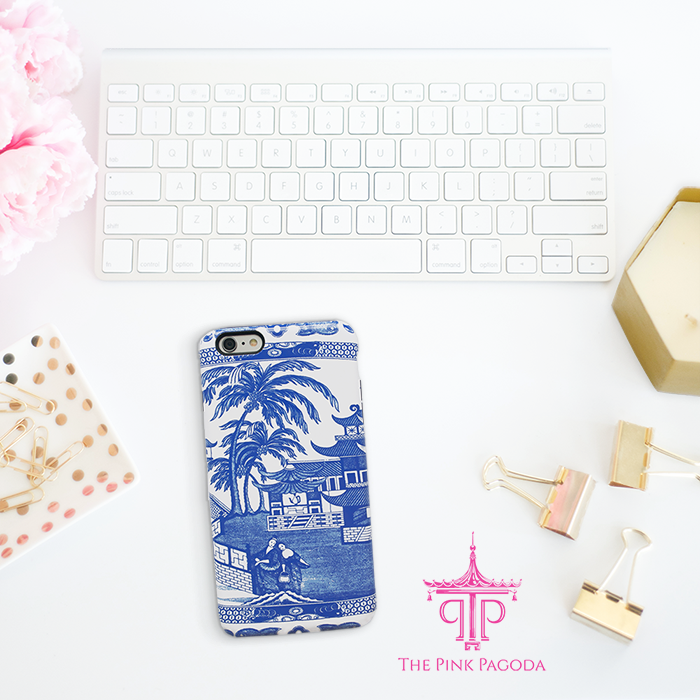 Beautiful Blue and White Chinoiserie Phone Case From The Pink Pagoda