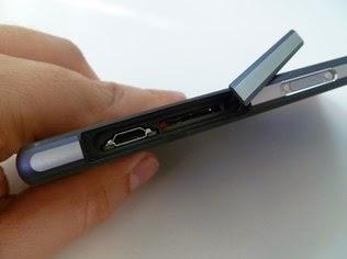 Portas do Xperia Z2 são protegidas por tampa