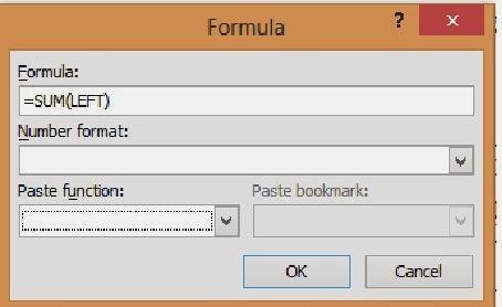 kotak dialog formula