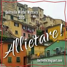 Allietare!  Mystery    November 2015
