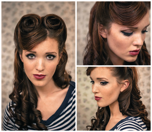 The Freckled Fox Sweetheart Hair Week Tutorial 2 Retro Victory