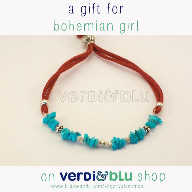 bracelet turquoise gift for boheminan girl
