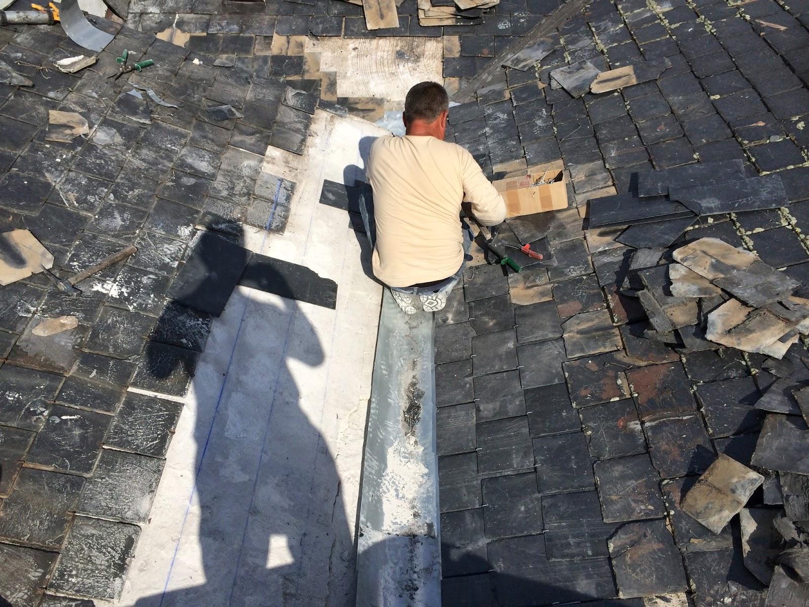 reparacion de tejados de pizarra canalon 3