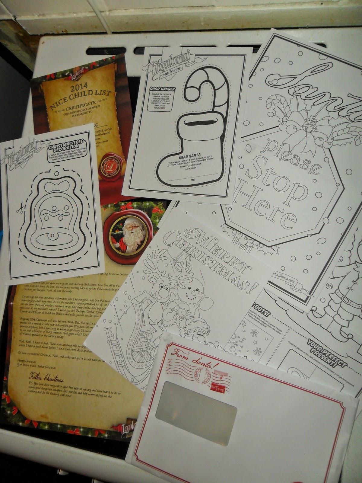 santa letter lapland mailroom activity pack