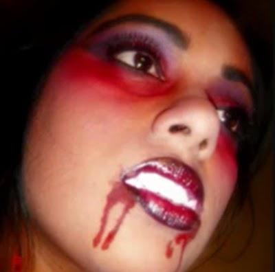 Maquillaje, Mujer Vampiro, Halloween