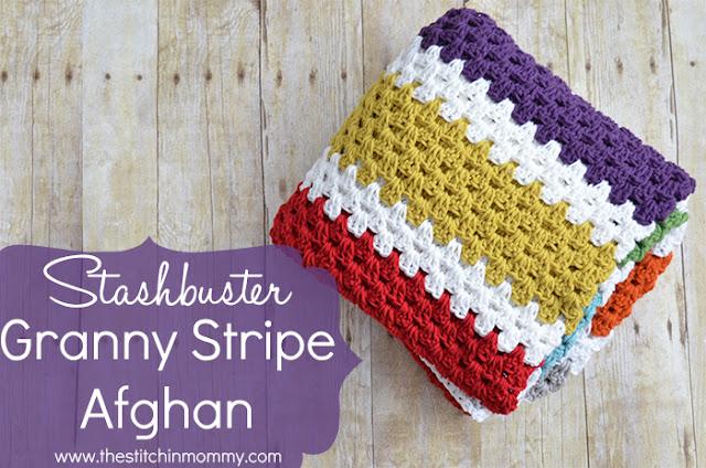 free crochet pattern granny stripe afghan