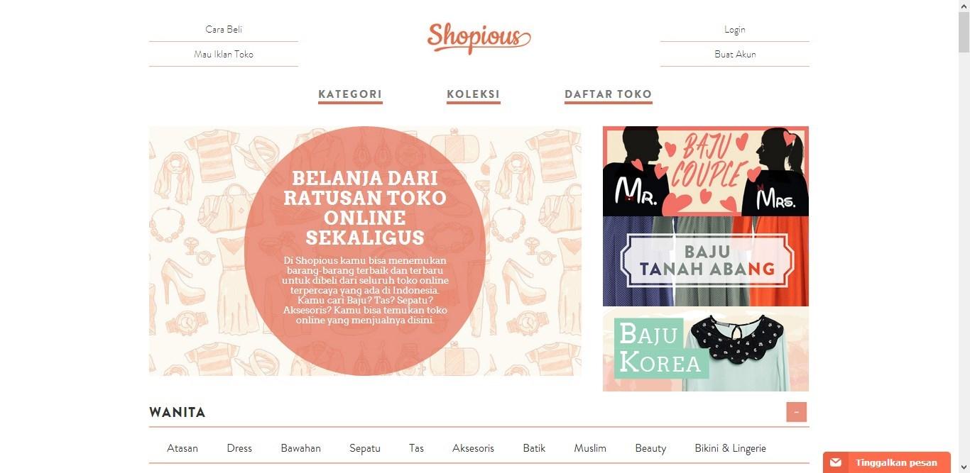 Online Shop SHOPIOUS