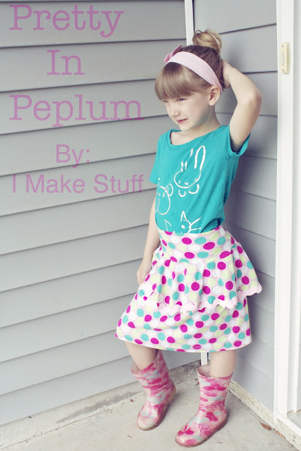sewing a peplum skirt
