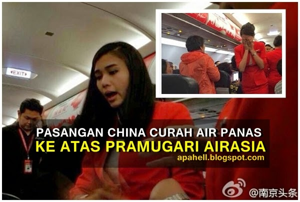Video : Pramugari AirAsia Dikasari Pasangan China (6 Gambar)