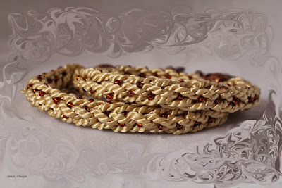 gunadesign Crochet Wrap Bracelet- Grape leaf