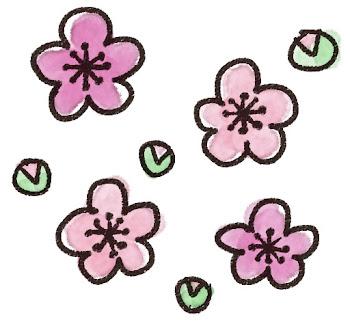 梅の花のイラスト 線画