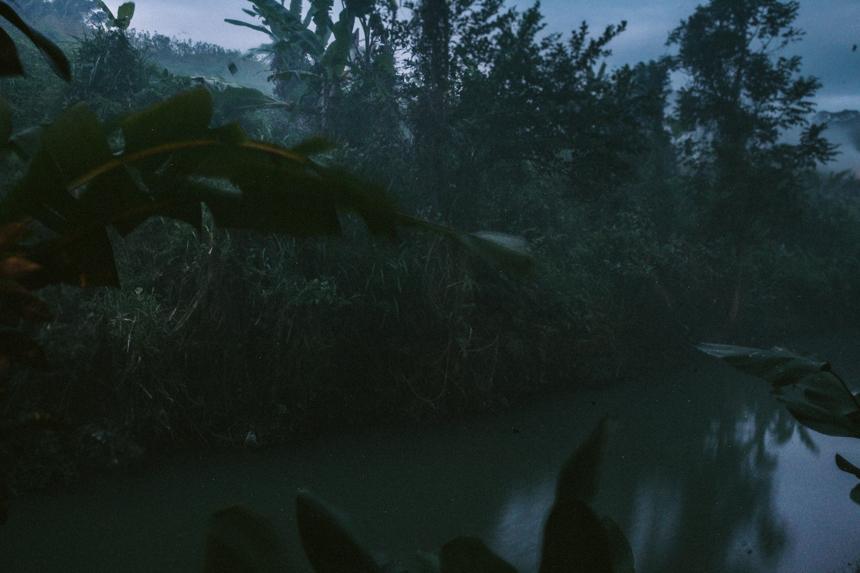 moody balinese river