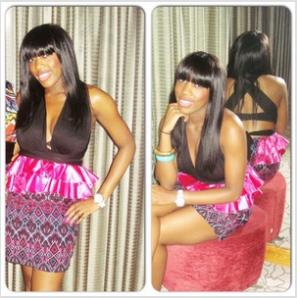 black pink african print party dress ruffled peplum dress