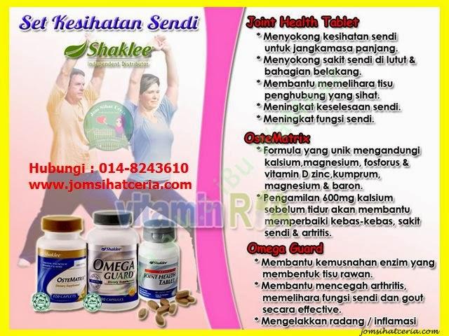 Ostematrix, Advanced Joint Health Tablet, Omega Guard, Produk SHAKLEE, Kongsi, Pengedar Shaklee Kuantan,