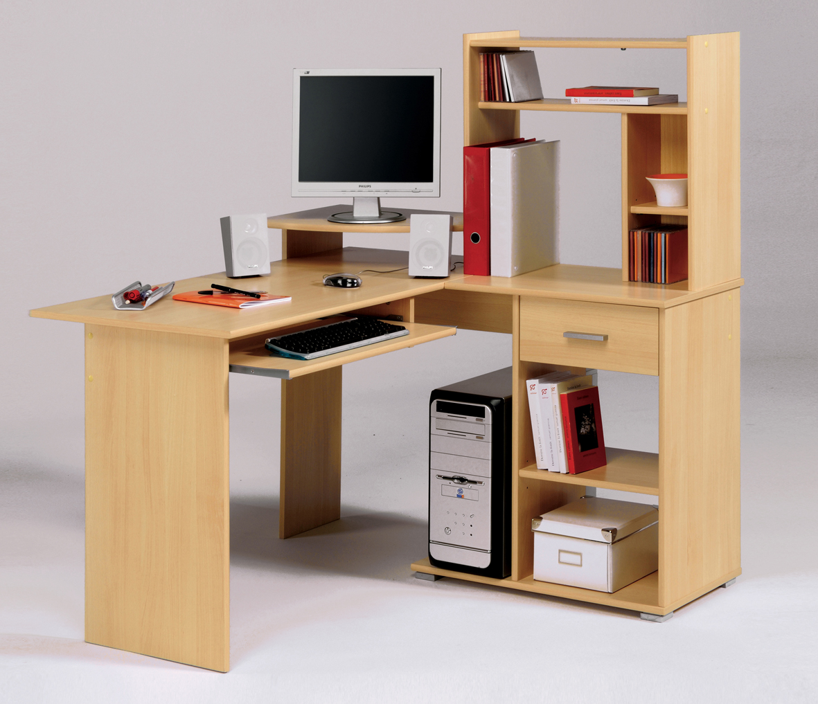 Corner computer table designs an interior design - Small computer table design ...