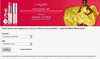 rossetto Shine Lover Lancome