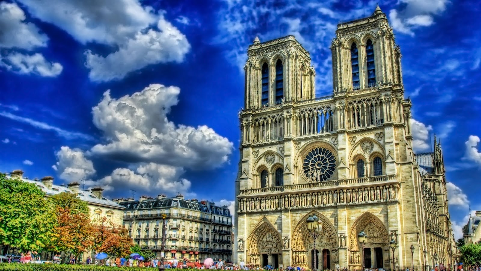 Notre Dame Cathedral – Paris, France Desktop Wallpaper