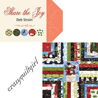 Moda SHARE THE JOY Christmas Quilt Fabric by Deb Strain