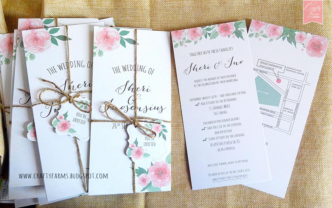 wedding card malaysia crafty farms handmade With wedding invitation cards kuala lumpur