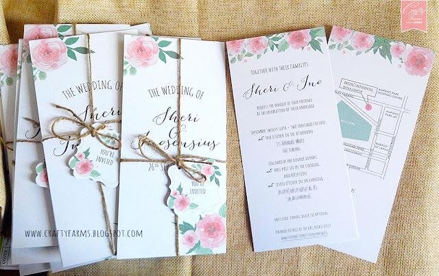 watercolour wedding invitation card, kad kahwin, kuala lumpur, malaysia.