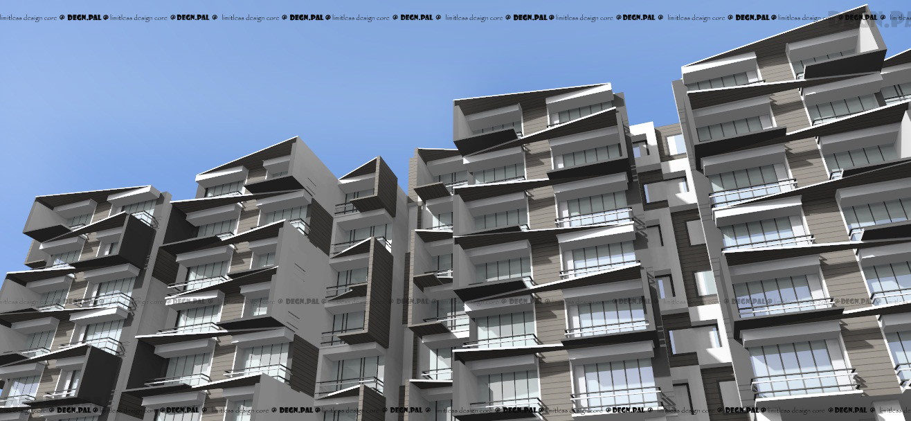 Cloe heights mid high contemporary residential building for Contemporary residential buildings