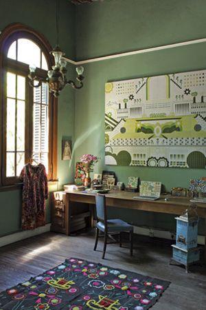 Südamerikanische Folklore und Design fürs Zuhause - Einrichten mit Herz: Büro