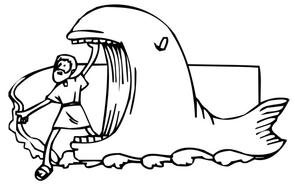 Coloring Pages - Jonah and the Whale 2 title=