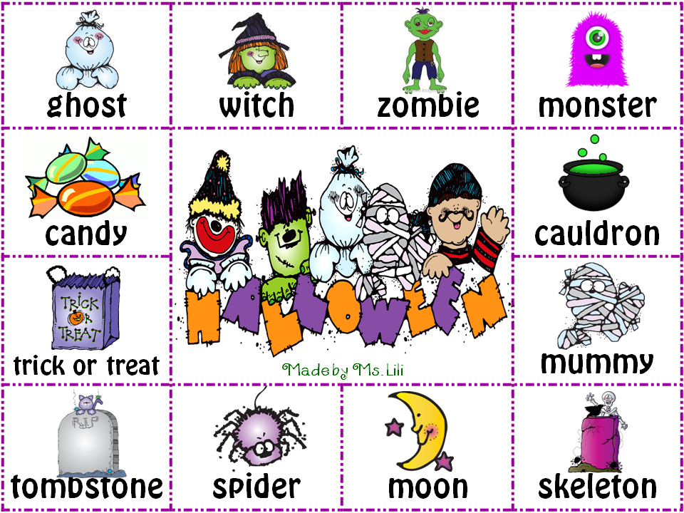 It\'s Always a Picnic in 4th. Grade: Halloween Words