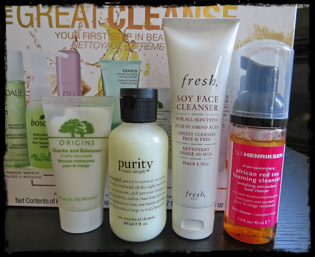 Origins Checks and Balances Froth Face Wash, Philosophy Purity Made Simple,  Fresh Soy Face Cleanser, Ole Henriken African Red Tea Foaming Cleanser
