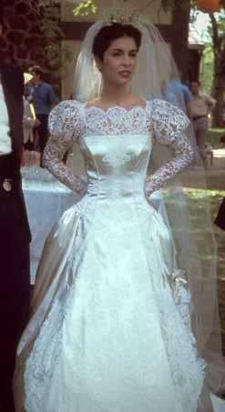 The Reception Is Not Only Famous For Its Sicilian Style And Lavishness But Corleone S Wedding Dress Which Was Designed By Anna Hill Johnstone