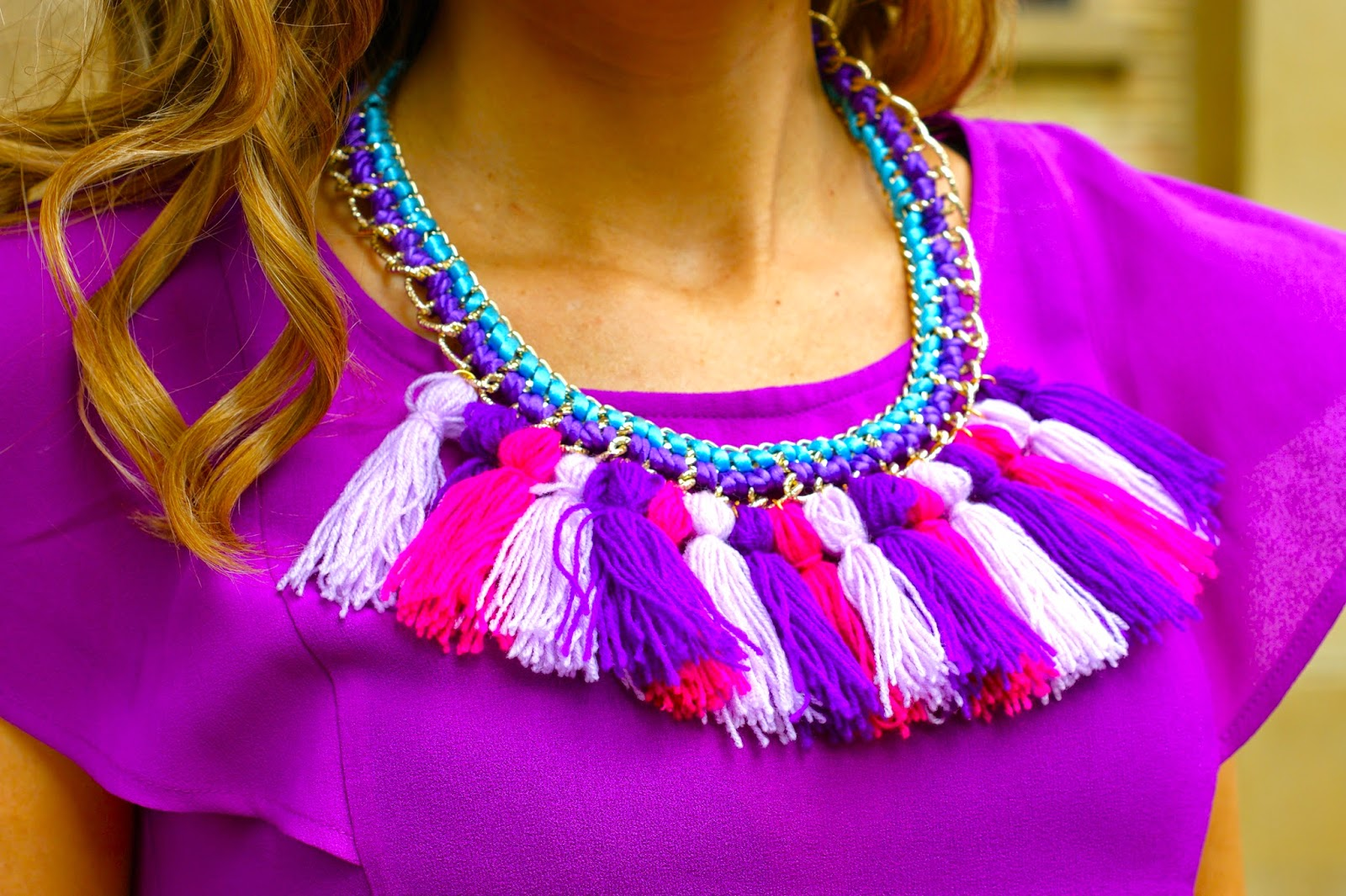 ethnic necklace DIY