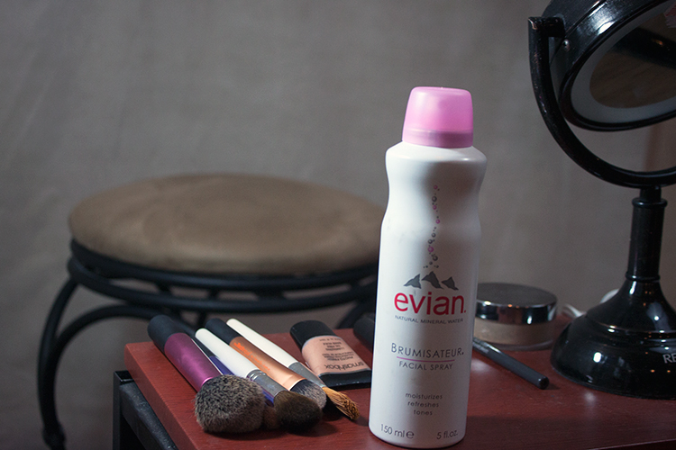evian mineral spray