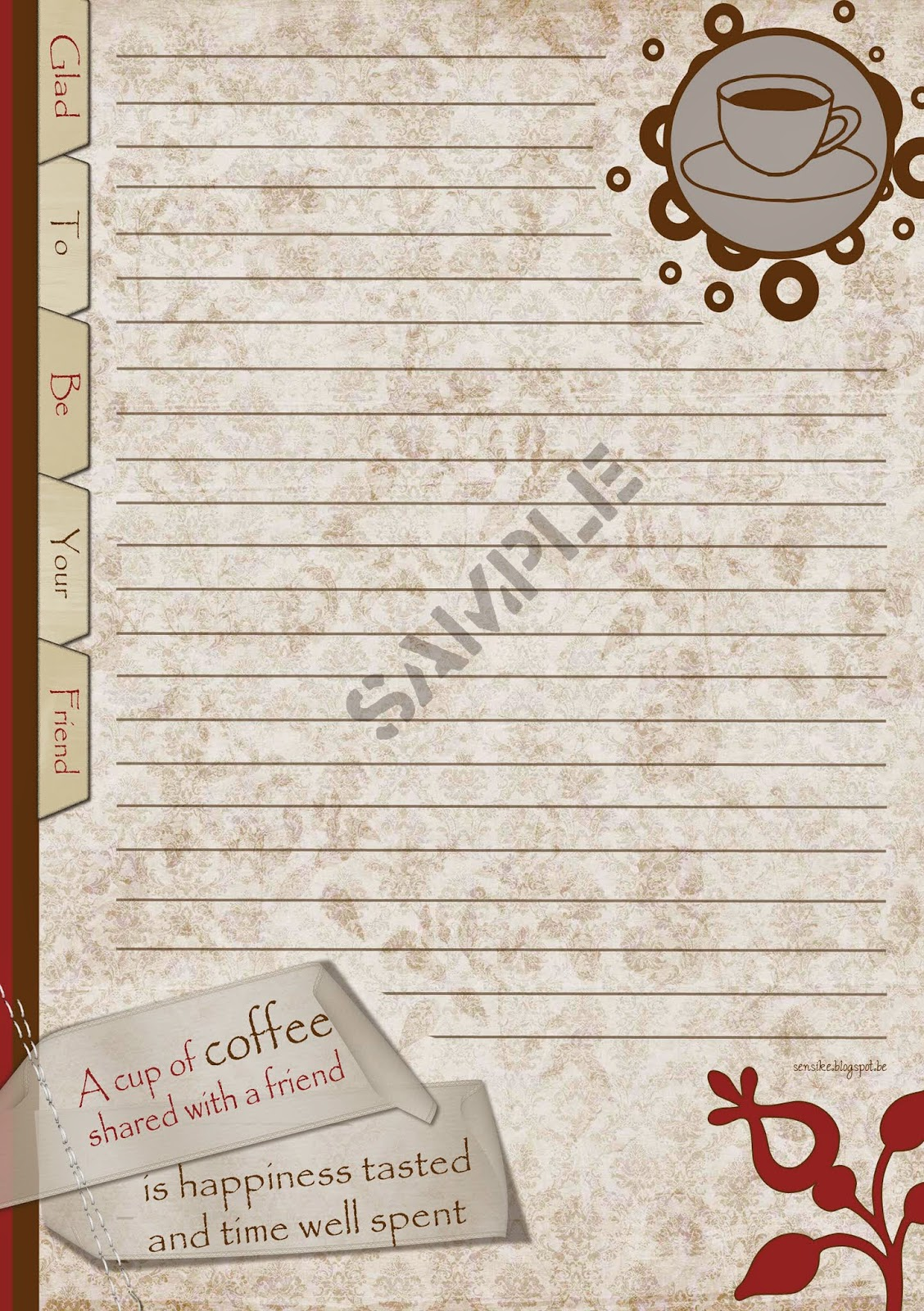 briefpapier koffie, stationery coffe