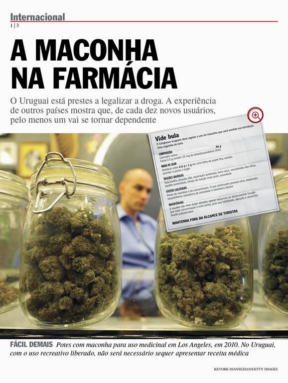 Maconha medicinal será vendida em farmácias do Uruguai no 2º semestre de 2014