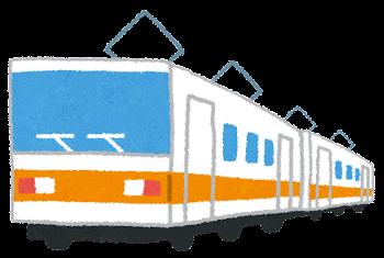 電車のイラスト「オレンジライン」