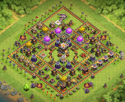 Clash of clans coc 360 th10 th11 base layouts