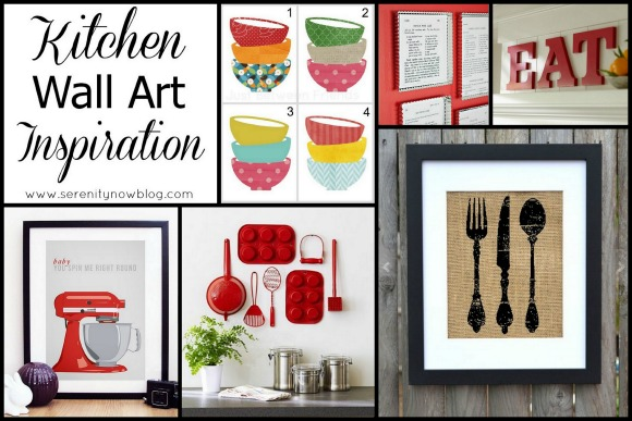 Kitchen Wall Art Ideas, rounded up at Serenity Now.