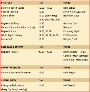 jadwal pertunjukan di bali safari