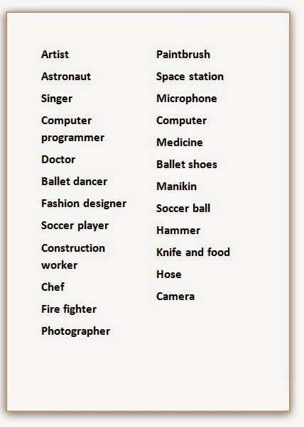 before starting the project i did a simple speaking game by making a list of jobs and equipment they would need for said jobs - Fun Jobs That Pay Well List Of Cool Jobs That Pay Well