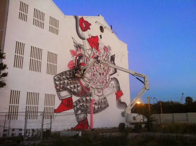 New Street Art Mural By How & Nosm For Underdgos in Lisbon, Portugal. 5