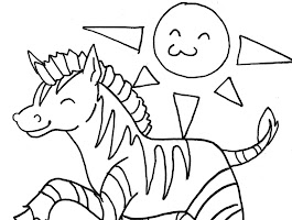 Zebra Zoo Animal Coloring Pages