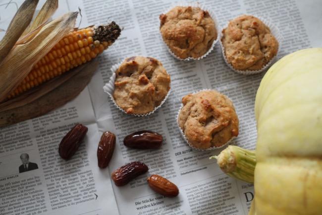 Rezept Kuerbismuffins mit Datteln - gesunde Rezepte - gesund Naschen - #svetlanakocht - #topfenistquark - #fitdurch2015 - lecker abnehmen -